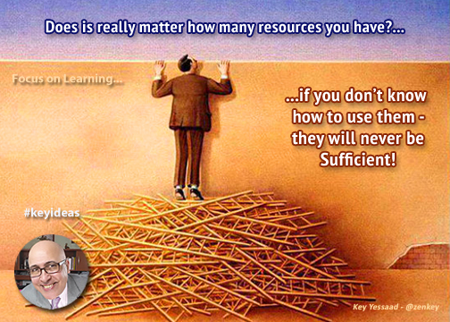Resources versus Knowledge...