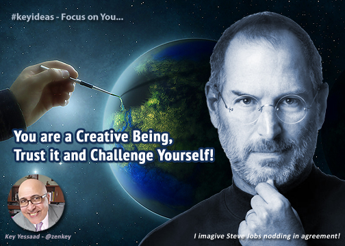 You are a Creative Being, Trust it and Challenge Yourself!