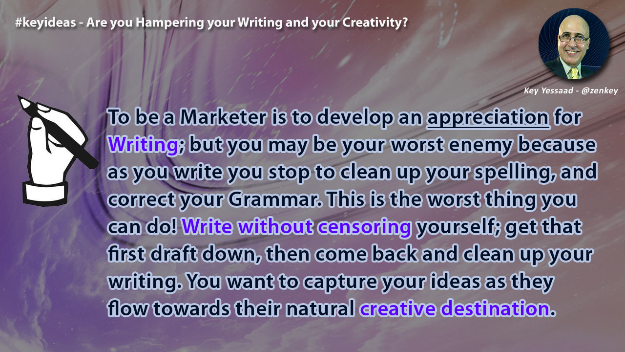 Are you Hampering your Writing and your Creativity?