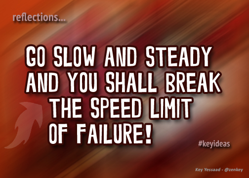 Go Slow and Steady for Success