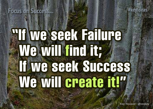 I seek success and will create it