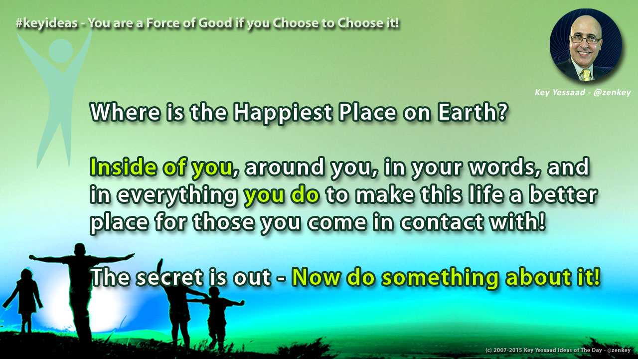 You are a Force of Good if you Choose to Choose it!