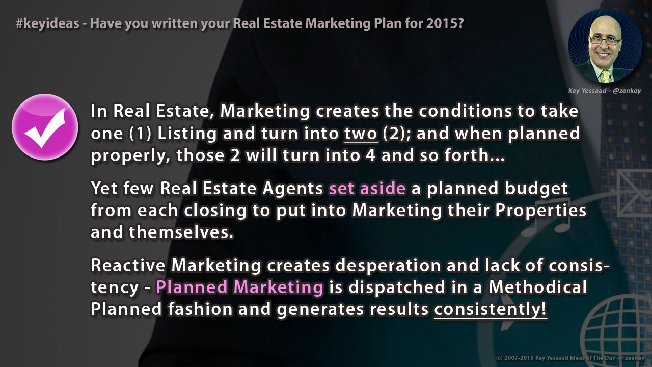 Have you written your Real Estate Marketing Plan for 2015?