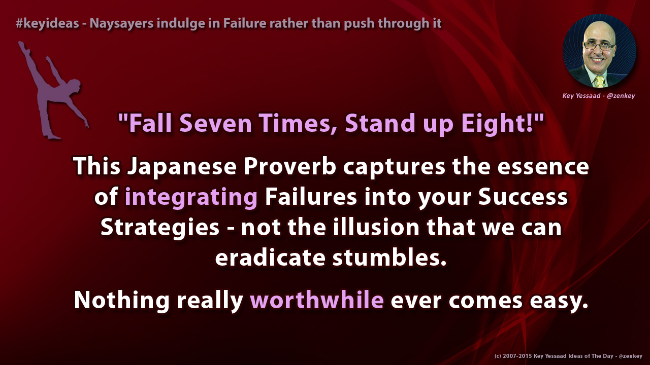 Naysayers indulge in Failure rather than push through it