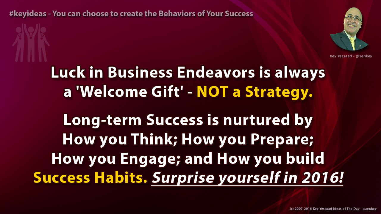 You can choose to create the Behaviors of Your Success