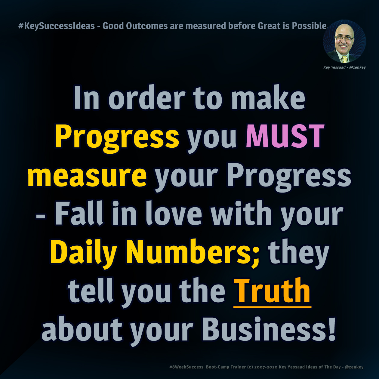 Good Outcomes are measured before Great is Possible... - #KeySuccessIdeas