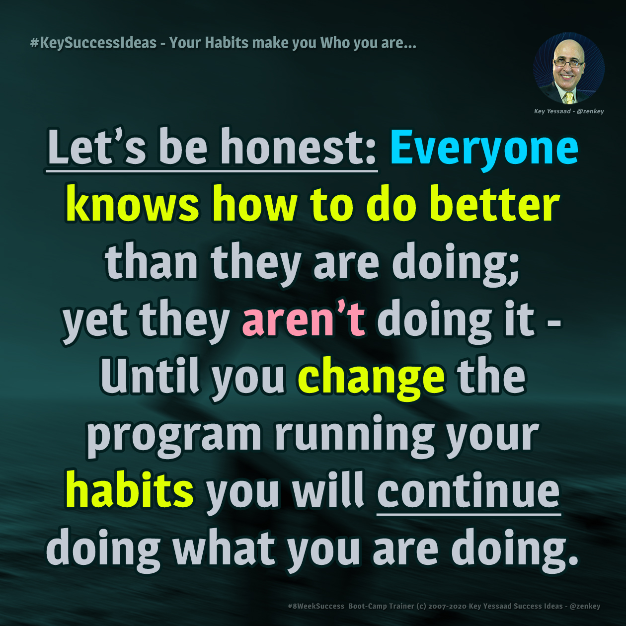 Your Habits make you Who you are?  - #KeySuccessIdeas