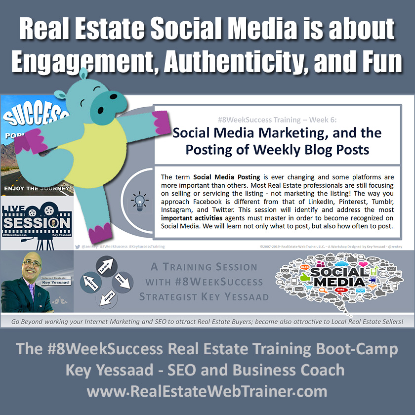 Social Media Marketing, and the Posting of Weekly Blog Posts - Week 6 May 2019 - #8WeekSuccess