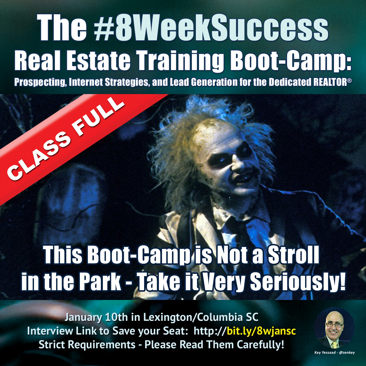 The #8WeekSuccess Boot-Camp in Columbia SC is FULL... #20in20