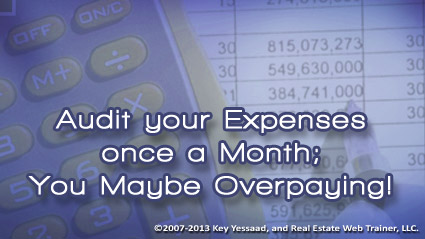 Track and Audit your Expenses Monthly
