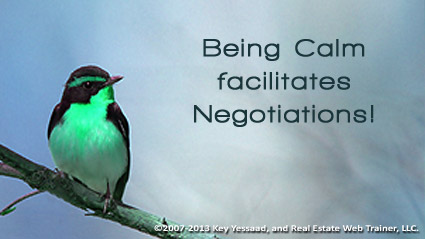 Being and Staying Calm facilitates Negotiations