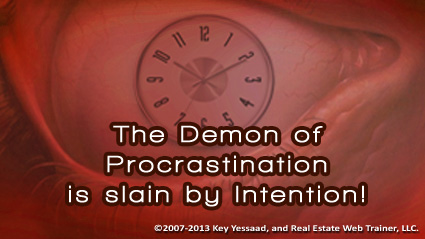 You can Counter Procrastination with Intention