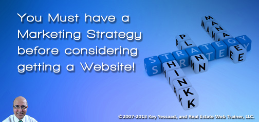 Plan your Marketing and let the Website follow