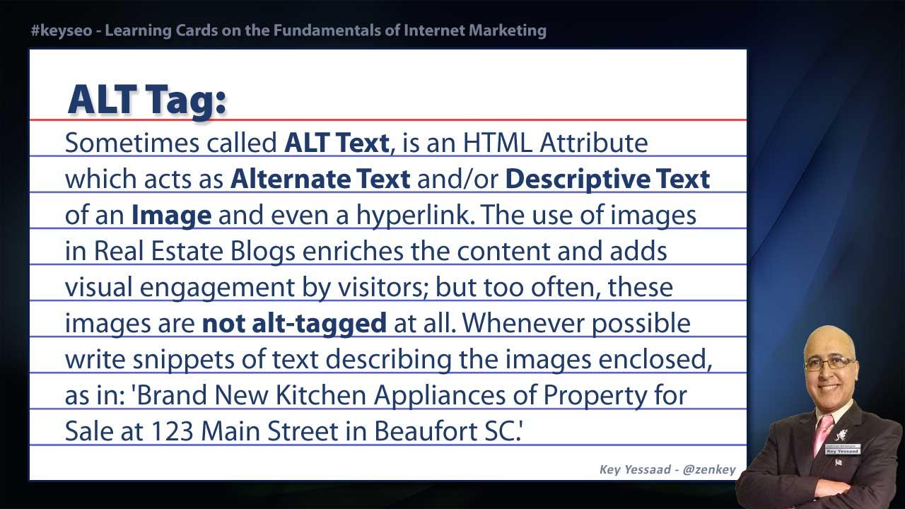 ALT Tag - Real Estate SEO Short Definition