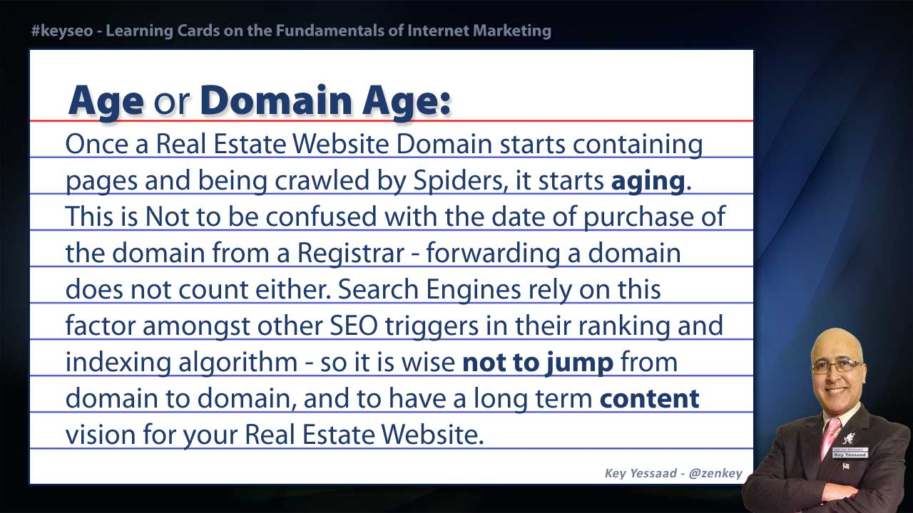 Age or Domain Age - Real Estate SEO Short Definition