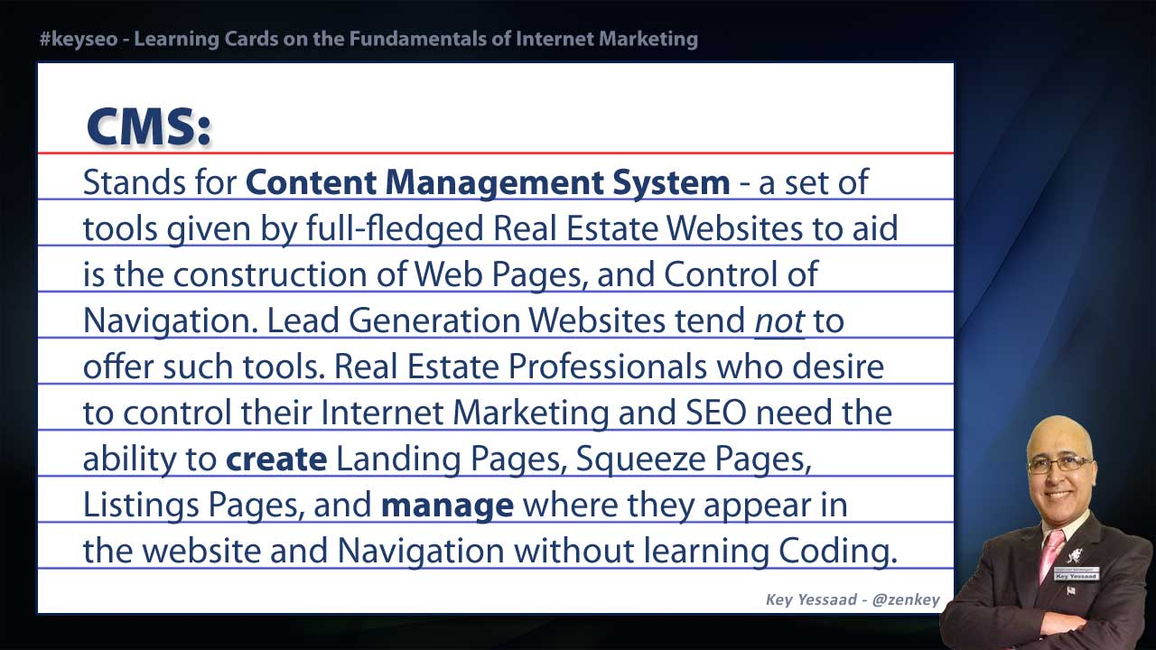 CMS - Real Estate SEO Short Definition
