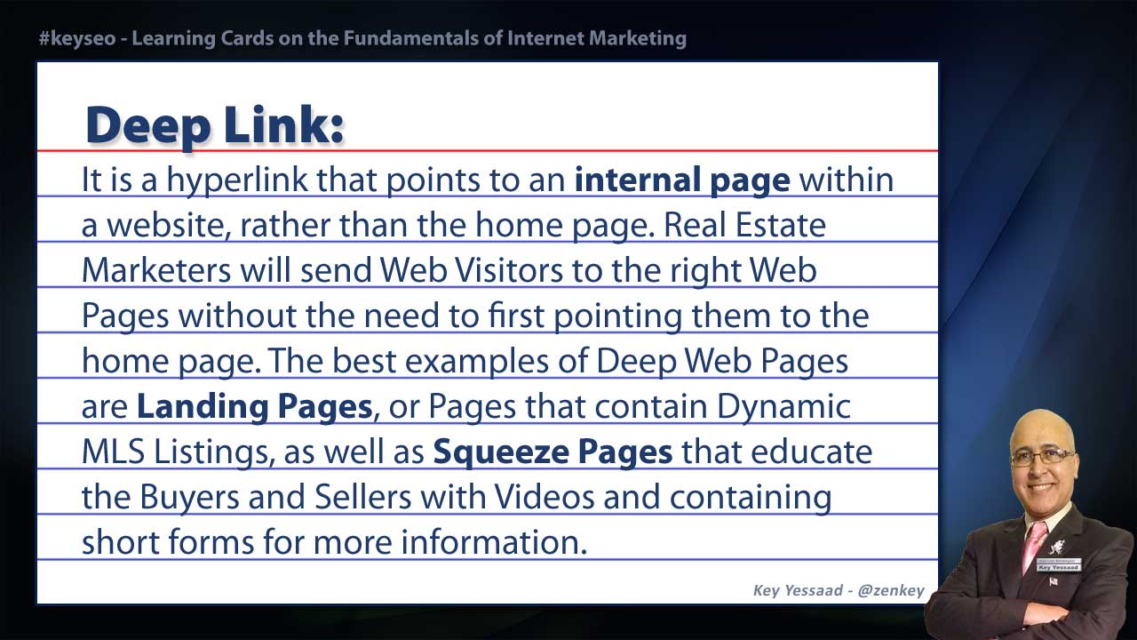 Deep Link - Real Estate SEO Short Definition