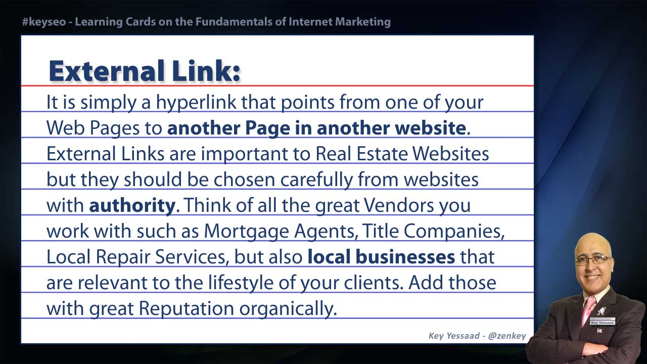 External Link - Real Estate SEO Short Definition