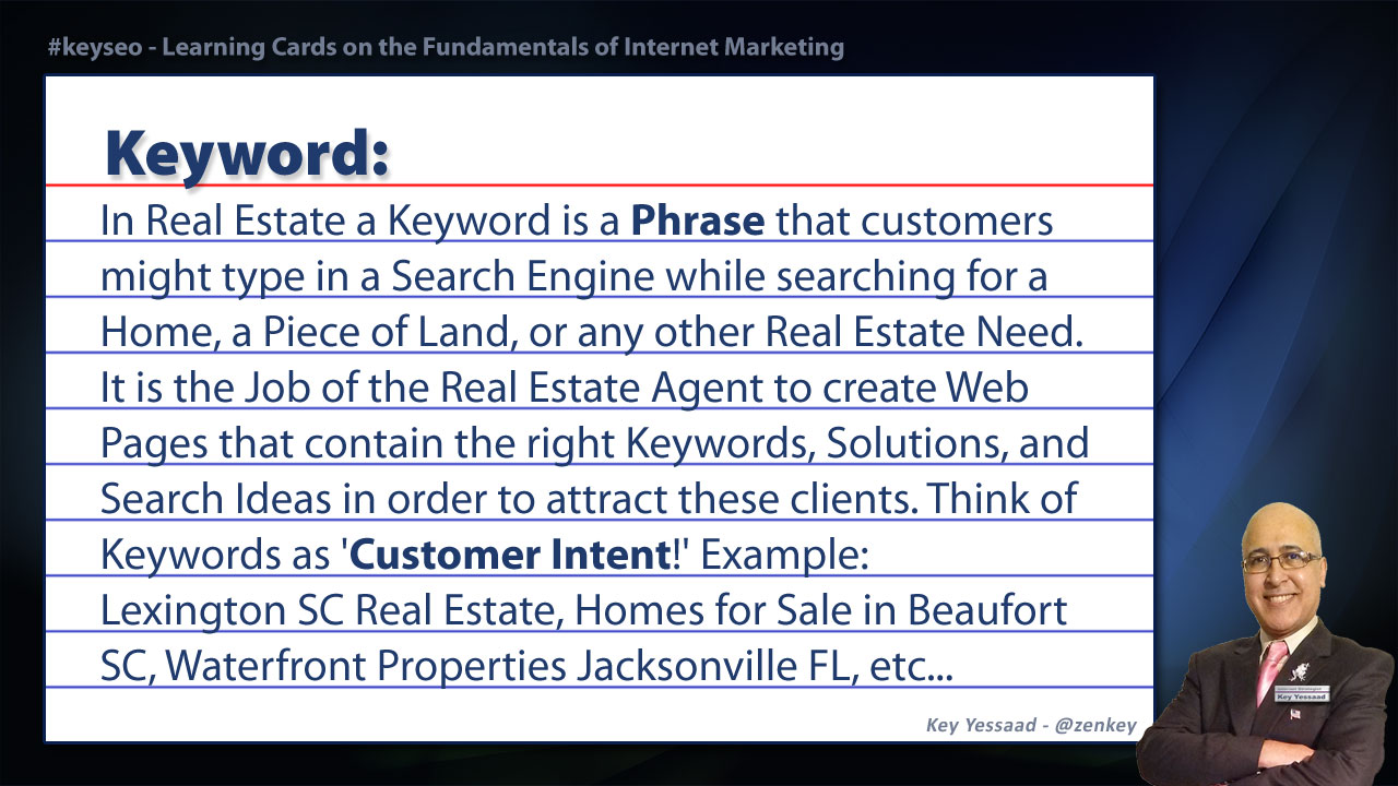 Keyword - SEO Short Definition for Real Estate