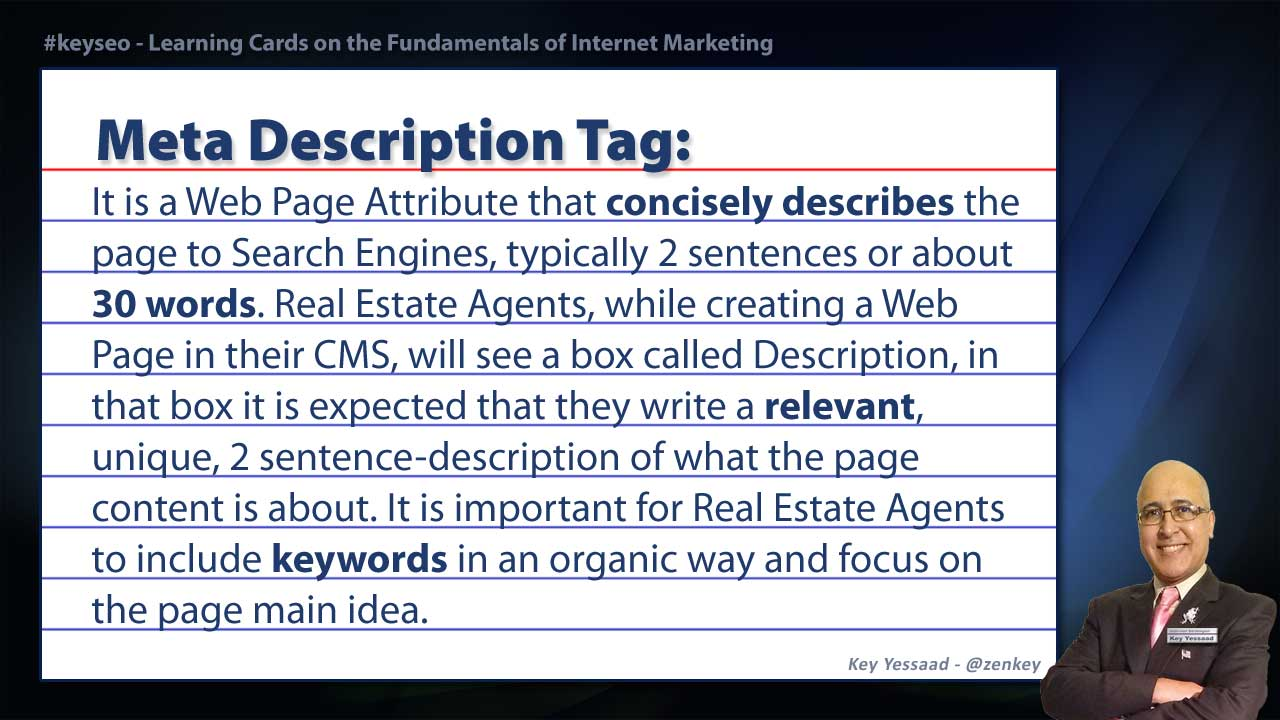 Meta Description Tag - Real Estate SEO Short Definition