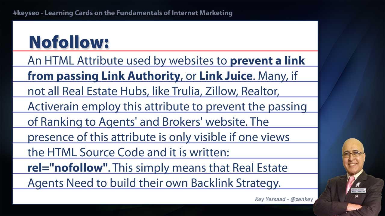 Nofollow - Real Estate SEO Short Definition