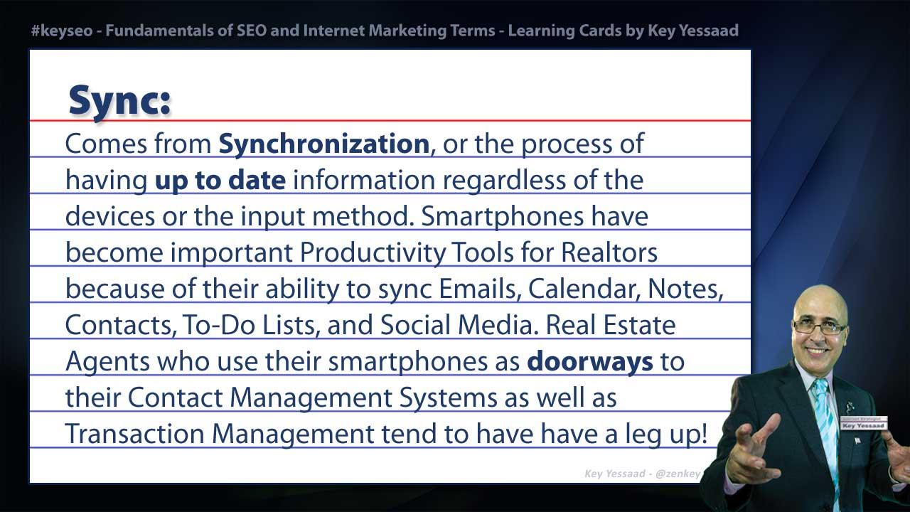 Sync - Internet Marketing and SEO Glossary