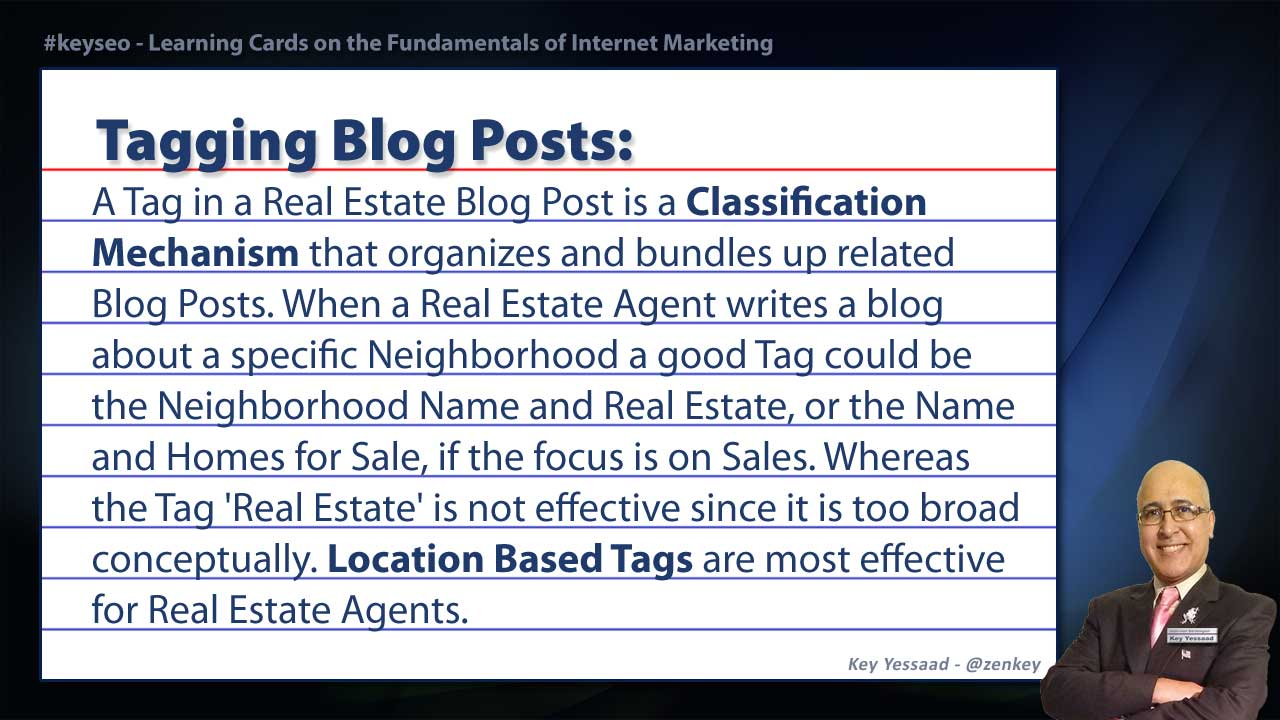Tagging Blog Posts - SEO Short Definition for Real Estate