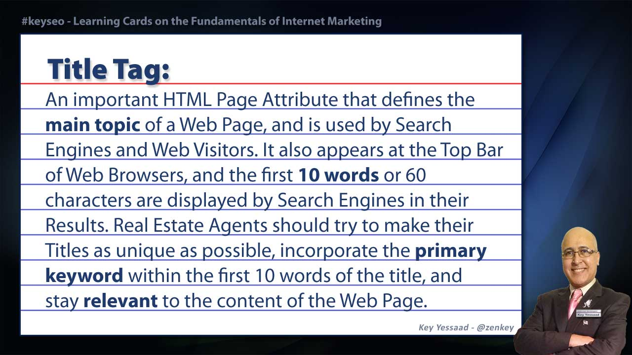 Title Tag - Real Estate SEO Short Definition