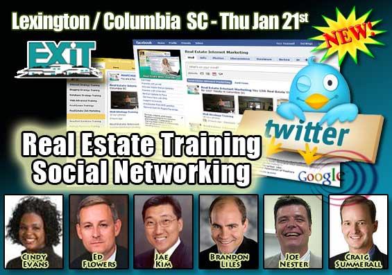 Lexington Columbia SC Real Estate Social Networking Training Thursday January 21st 2010